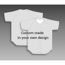 Custom baseball tops full button your design inclusive print