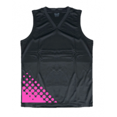 Black basketball jersey in different colour pattern M073